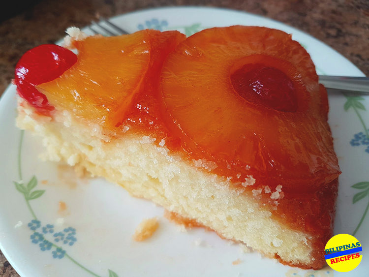 Pineapple Upside Down Cake Slice