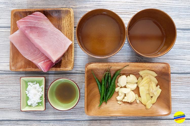 Mahi-Mahi Paksiw Ingredients