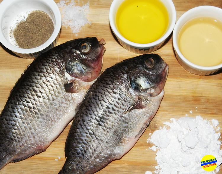 Nilasing na Tilapia Ingredients
