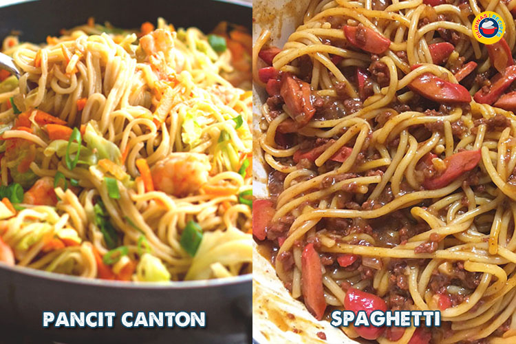 Pinoy Pancit Canton and Spaghetti