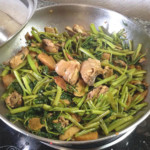 Adobong Kangkong with Chicken