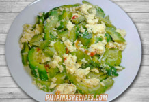 Ampalaya with Egg