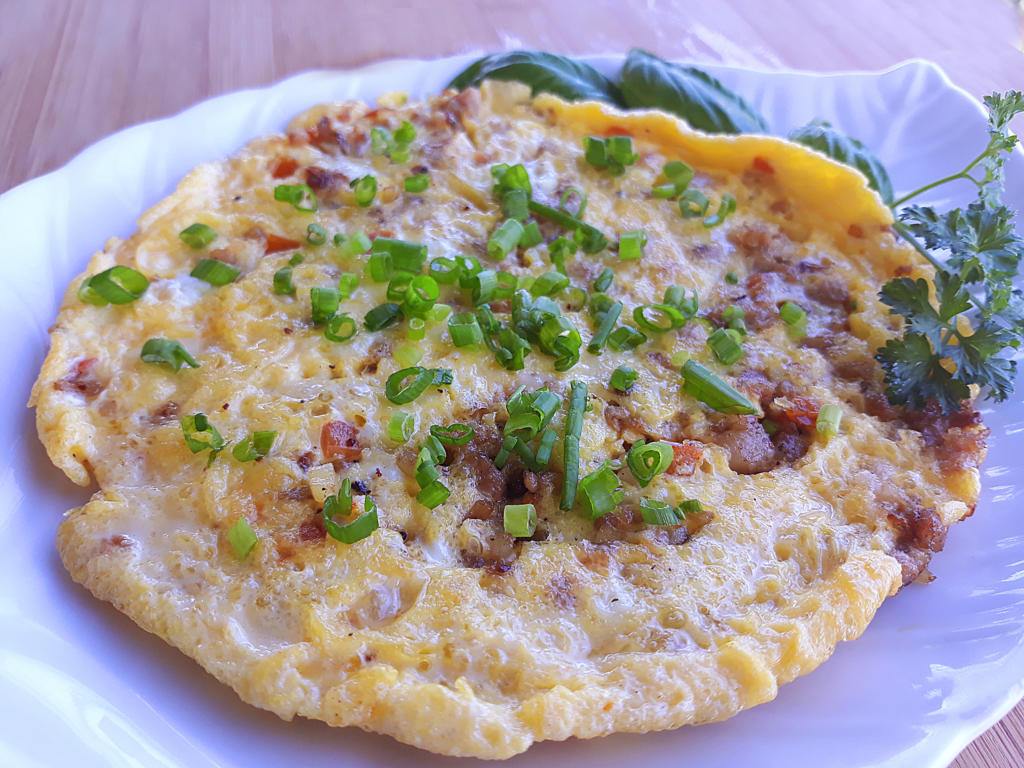 Easy tortang giniling recipe.