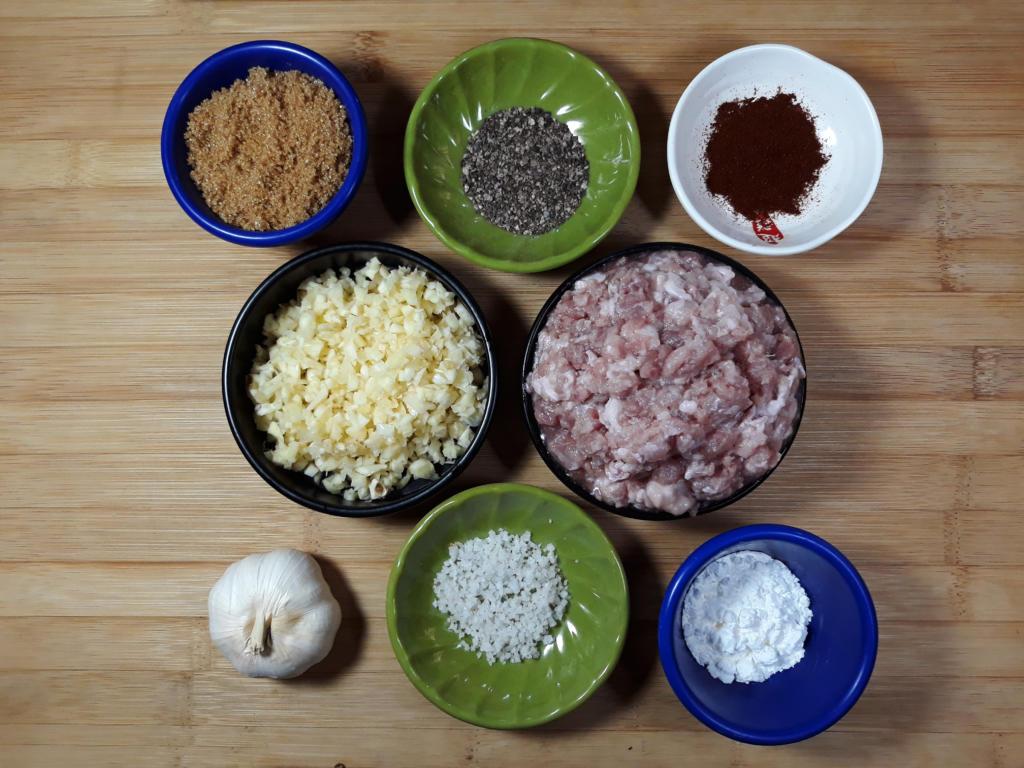 Skinless Longganisa Ingredients