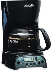 Mr. Coffee 4-Cup Programmable Coffee Maker, (DRX5-RB)
