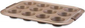 Anolon 57036 Bronze Nonstick 12-Cup Muffin Tin